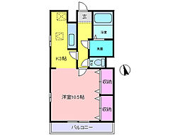 ヴェルドミール2[1階]の間取り