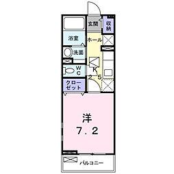 ナイツシャトー[1階]の間取り
