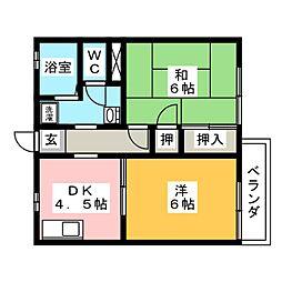 フレグランス島崎[1階]の間取り