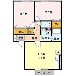 サンロイヤルパレスNK I・II[2階]の間取り
