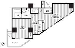 カスタリア初台[8階]の間取り