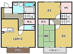 ガーデンビレッジC棟[1階]の間取り