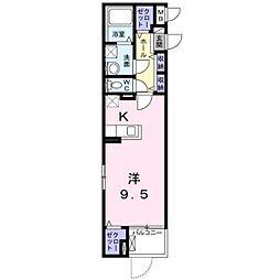 阪急京都本線 南茨木駅 徒歩15分の賃貸マンション 1階1Kの間取り