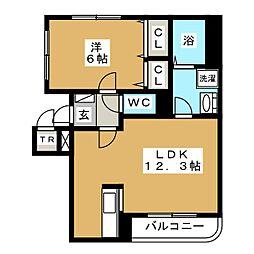 ブリーゼ920[4階]の間取り