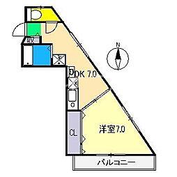 ラフィング・フラット[2階]の間取り