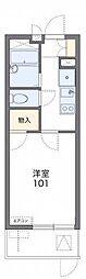 JR東海道・山陽本線 摂津富田駅 徒歩20分の賃貸マンション 1階1Kの間取り