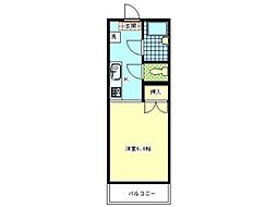 メゾンドール平沢[2階]の間取り
