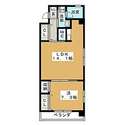 シーサイド9001[2階]の間取り