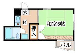 兵庫県神戸市須磨区月見山本町2丁目の賃貸マンションの間取り