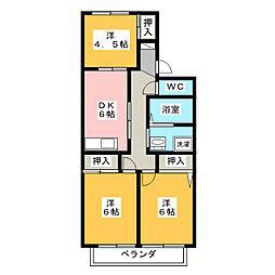 リバーサイドSUWA B棟[2階]の間取り