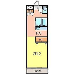 クリーンハイツ安井3[158号室]の間取り
