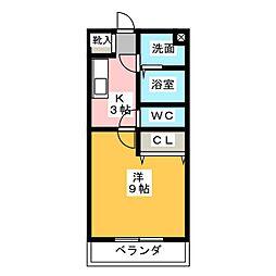 Windy堀ノ内[2階]の間取り