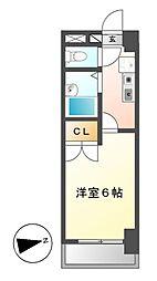 ルミエール芳野[6階]の間取り