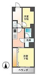 三旺マンション第6金山[9階]の間取り