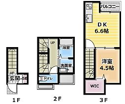 [一戸建] 大阪府大東市深野北1丁目 の賃貸【/】の間取り