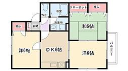 フィレンツェKMパートI[202号室]の間取り