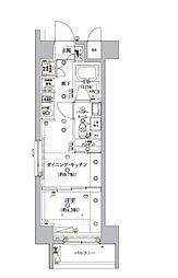 東京メトロ南北線 麻布十番駅 徒歩8分の賃貸マンション 3階1DKの間取り