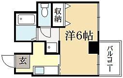 武與門ビル[4階]の間取り