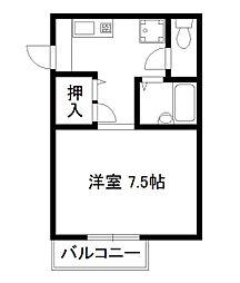 ポワッソン[2階]の間取り