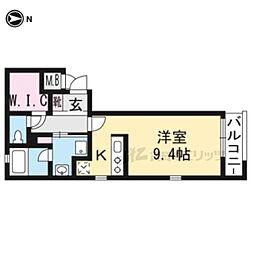 京阪本線 龍谷大前深草駅 徒歩7分の賃貸マンション 2階1Kの間取り