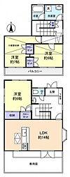 [テラスハウス] 千葉県八千代市大和田新田 の賃貸【/】の間取り