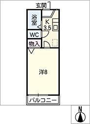 ビクトリー21[1階]の間取り