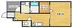 ハイツサフラン[1階]の間取り
