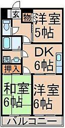 東京都青梅市長淵4丁目の賃貸マンションの間取り