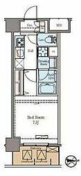 東京メトロ日比谷線 仲御徒町駅 徒歩6分の賃貸マンション 6階1Kの間取り