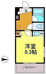 クラージュ474[3E号室]の間取り