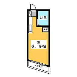 リバーハイツ II[2階]の間取り
