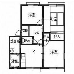 エスポワール太田[1階]の間取り