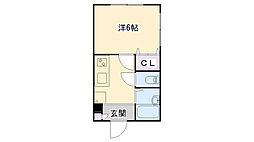 兵庫県三木市志染町東自由が丘1丁目の賃貸アパートの間取り