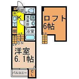 愛知県名古屋市中村区太閤2丁目の賃貸アパートの間取り