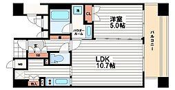 プライムアーバン堺筋本町[4階]の間取り