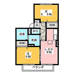 ル・セール[1階]の間取り