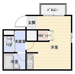 ファラン八尾[1階]の間取り