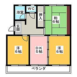コーポ宮崎[4階]の間取り