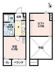 大阪府堺市堺区出島海岸通2丁の賃貸アパートの間取り
