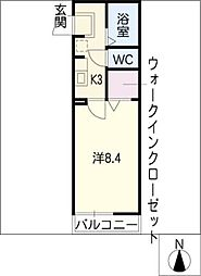 ベルデュール稲上[1階]の間取り