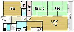 センチュリー摂津[3階]の間取り