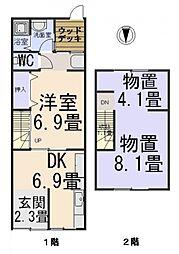 [一戸建] 大阪府大阪市住之江区粉浜1丁目 の賃貸【/】の間取り