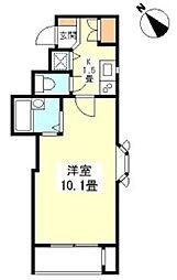 東京メトロ銀座線 銀座駅 徒歩8分の賃貸マンション 5階1Kの間取り