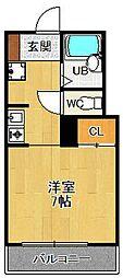 グレース仁川2[B-2号室]の間取り