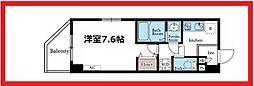 リブリ・ウエノビル 6階1Kの間取り