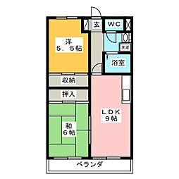 ヴォーグ21[1階]の間取り