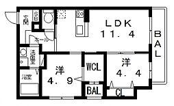 仮)シャーメゾン宮町1丁目計画[205号室号室]の間取り