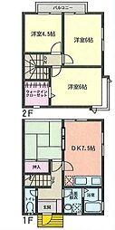 [テラスハウス] 神奈川県横須賀市大矢部3丁目 の賃貸【/】の間取り