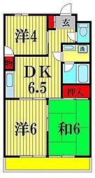 美澤レヂデンス[6階]の間取り