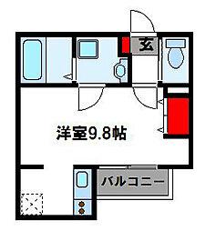 JR鹿児島本線 千早駅 徒歩12分の賃貸アパート 1階1Kの間取り